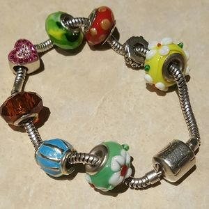 Persona Sterling Silver Bracelet with Beads